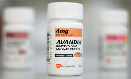 ... recall of the diabetes drug Avandia due to increased risk of heart